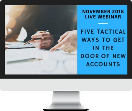 November 2018 – Five Tactical Ways to Get in the Door course image