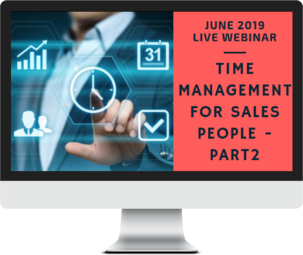 June 2019 – Time Management for Sales People – Part 2 course image