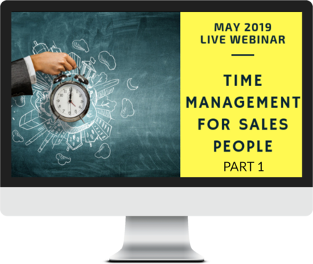 May 2019 – Time Management for Sales People - Part 1 course image