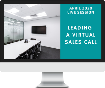 April 2020 – How to Lead Virtual Sales Calls course image