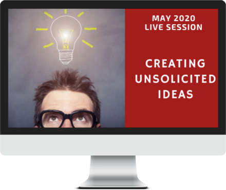 May 2020 – Creating Unsolicited Ideas course image