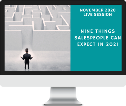 November 2020 – Nine Things Salespeople Can Expect in 2021 course image
