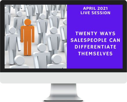 April 2021 – Twenty Ways Salespeople Can Differentiate Themselves course image