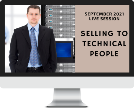 September 2021 – Selling to Technical People course image
